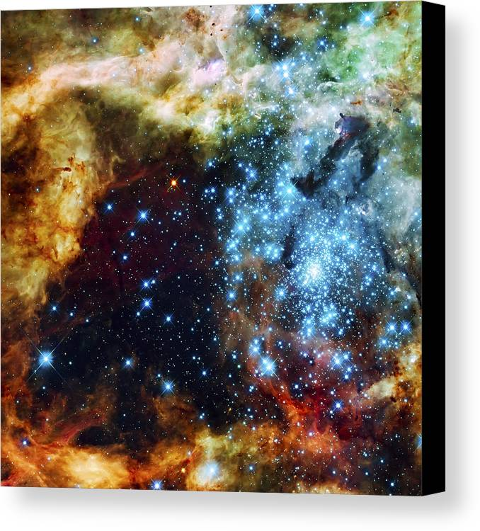 Nebula Canvas Print featuring the photograph Deep Space Fire And Ice 2 by Jennifer Rondinelli Reilly - Fine Art Photography