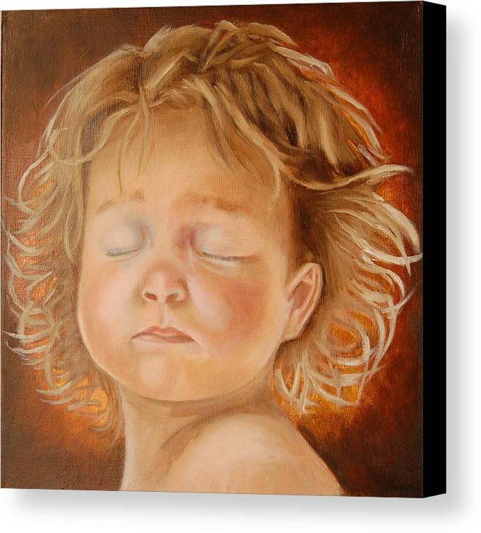 Girl Canvas Print featuring the painting Diva by Sandra Butler