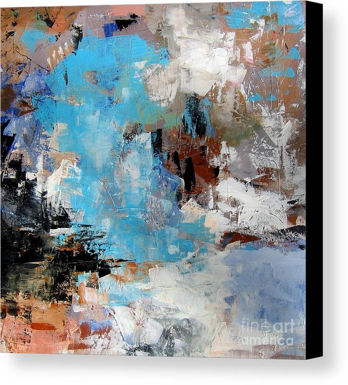 Abstract Canvas Print featuring the painting Dragon Bleu by Diane Desrochers