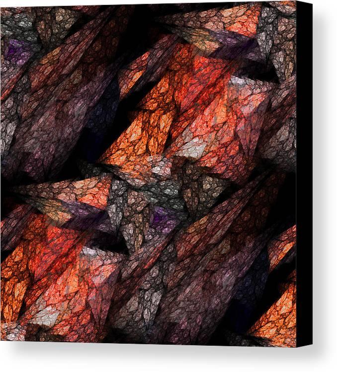 Contemporary Art Canvas Print featuring the digital art Earth Tones by Kathleen Sartoris