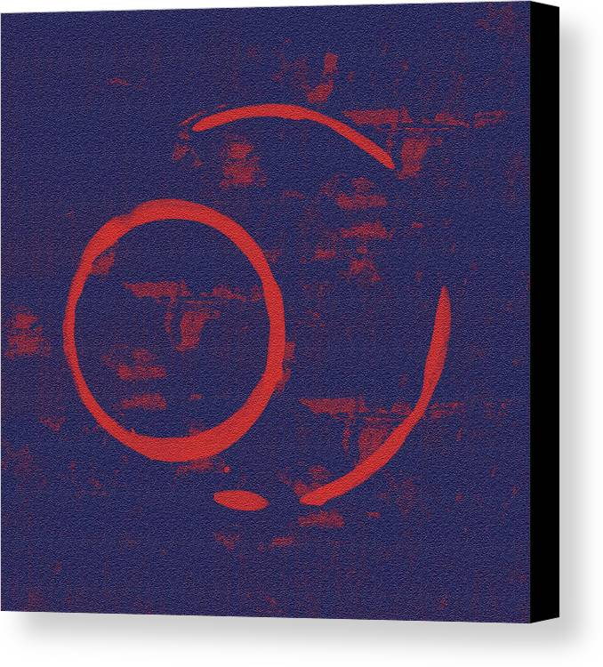 Red Canvas Print featuring the painting Eclipse by Julie Niemela