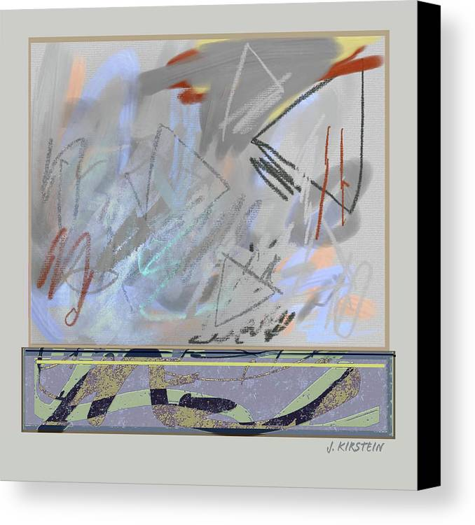 Fine Art Canvas Print featuring the digital art Emerging Memories by Janis Kirstein