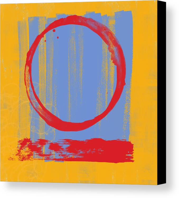 Red Canvas Print featuring the painting Enso by Julie Niemela