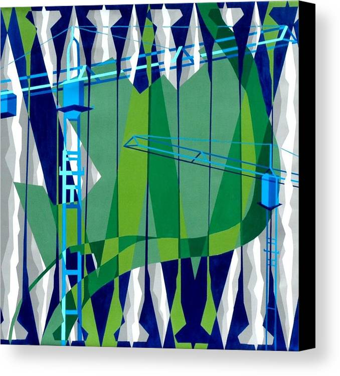 Politics Canvas Print featuring the painting Entrench by Dennis McCann