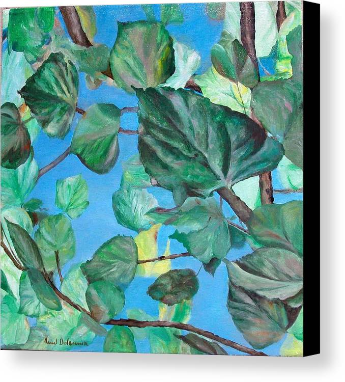 Floral Painting Canvas Print featuring the painting Ete by Muriel Dolemieux