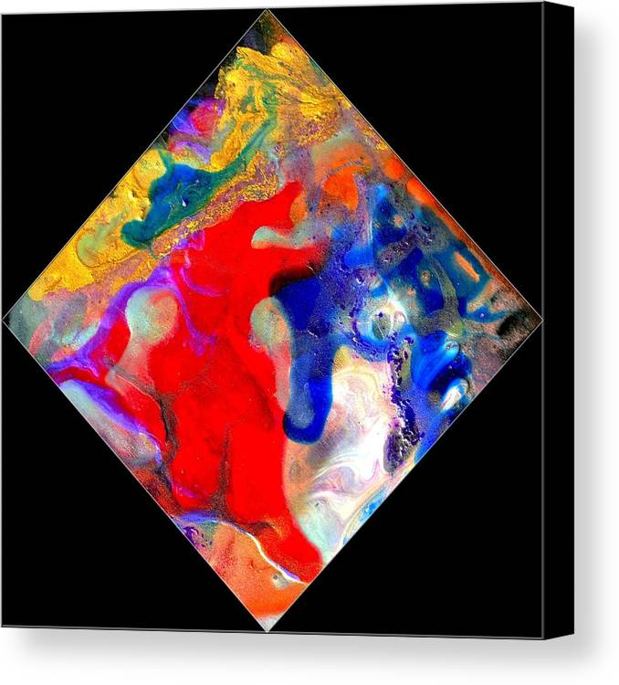 Abstract Canvas Print featuring the painting Evolution Series 1007 by Dina Sierra