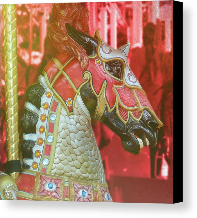 Horse Canvas Print featuring the photograph Excalibur by JAMART Photography
