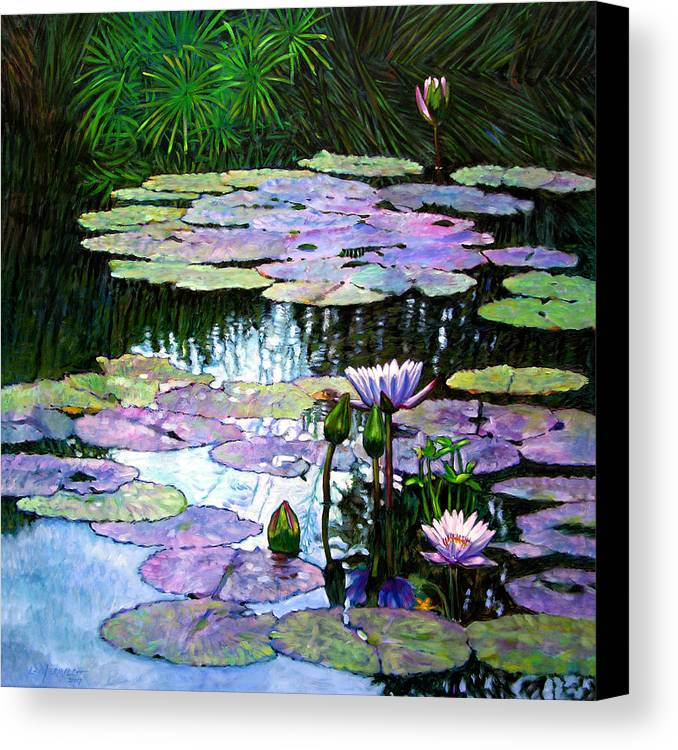 Landscape Canvas Print featuring the painting Expressions Of Love And Peace by John Lautermilch