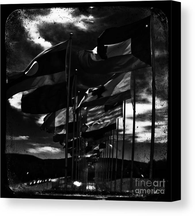 Admarshall Canvas Print featuring the photograph Flags by AD Marshall