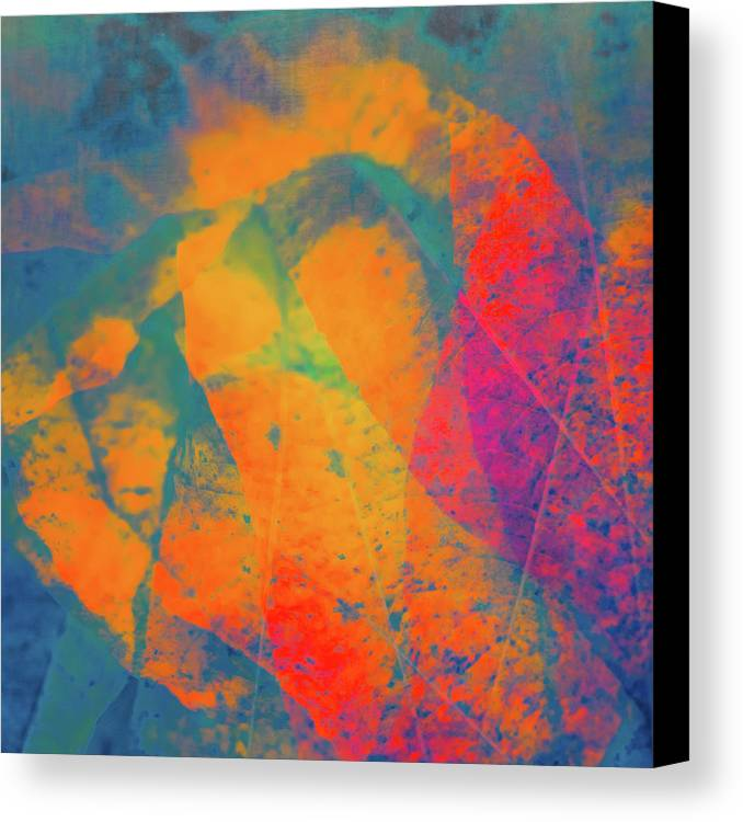 Abstract Canvas Print featuring the photograph Flaming Foliage 1 by Ari Salmela