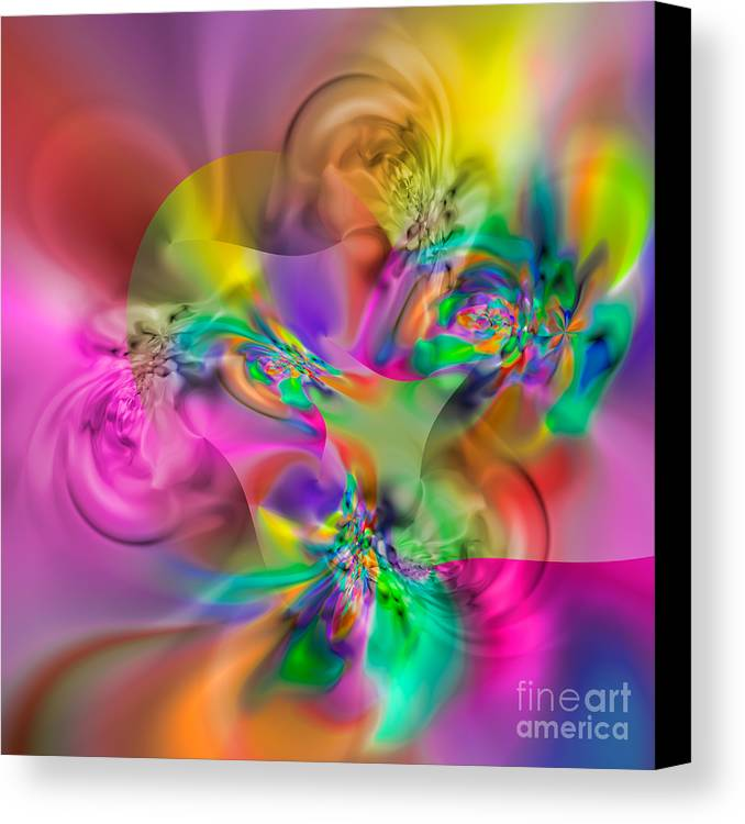 Abstract Canvas Print featuring the digital art Flexibility 34eaa by Rolf Bertram