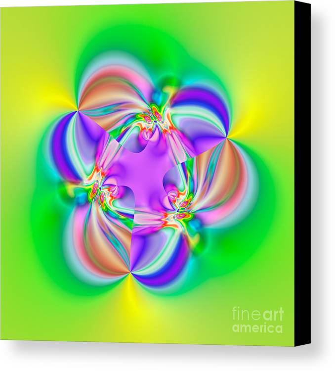 Abstract Canvas Print featuring the digital art Flexibility 39b1a by Rolf Bertram