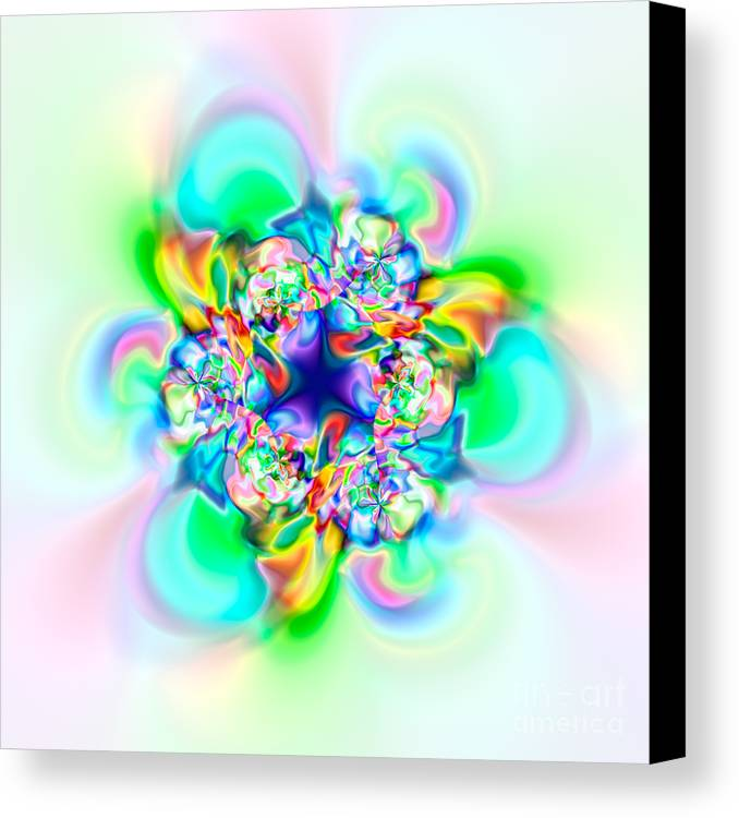 Abstract Canvas Print featuring the digital art Flexibility 53a by Rolf Bertram