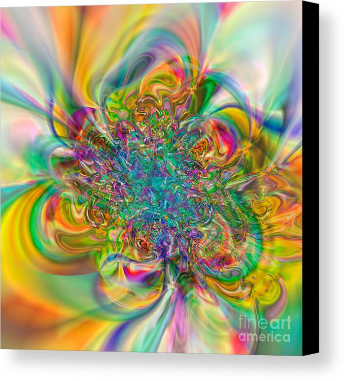 Abstract Canvas Print featuring the digital art Flexibility 57abc by Rolf Bertram