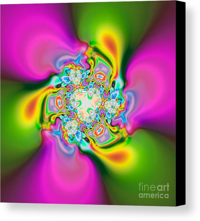 Abstract Canvas Print featuring the digital art Flexibility39e1 by Rolf Bertram