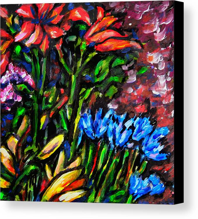 Floral Canvas Print featuring the painting Flower Culture 213 by Laura Heggestad