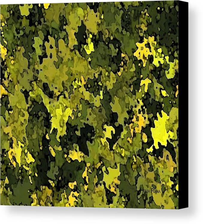 Foliage Canvas Print featuring the digital art Foliage by Hema Rana
