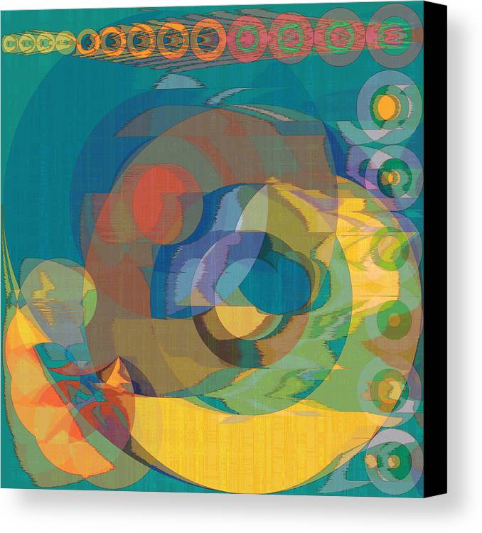 Abstract Canvas Print featuring the digital art Follow The Sun by Gae Helton