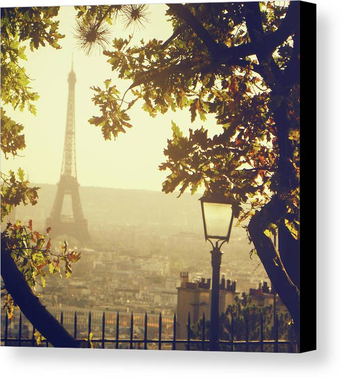 Square Canvas Print featuring the photograph French Romance by by Smaranda Madalina Cheregi