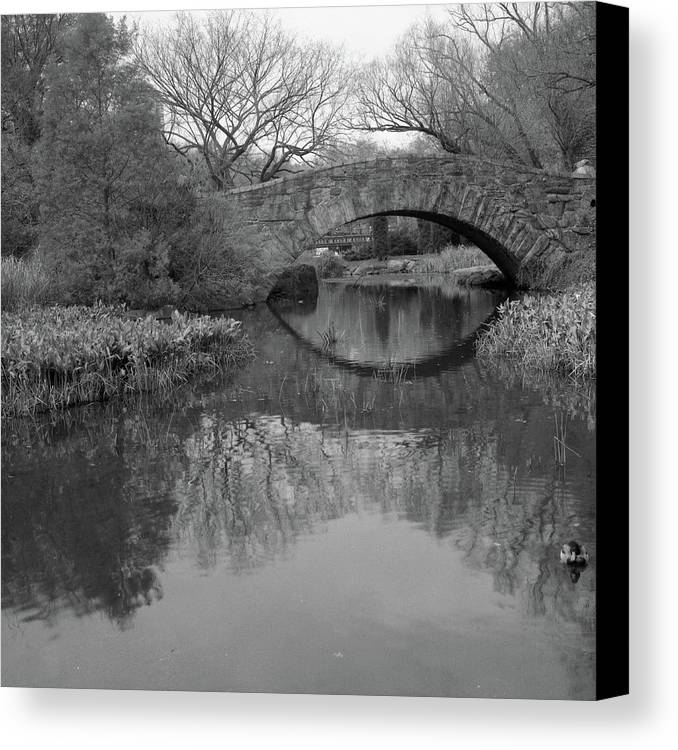 Square Canvas Print featuring the photograph Gapstow Bridge - Central Park - New York City by Holden Richards