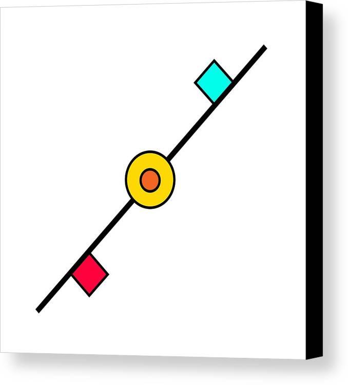 Geometry Canvas Print featuring the digital art Geometric Art 203 by Bill Owen