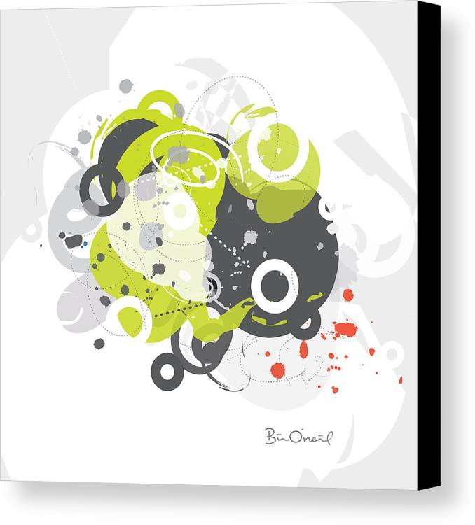 Retro Canvas Print featuring the print Gizmo - Retro-modern Abstract by Bill ONeil