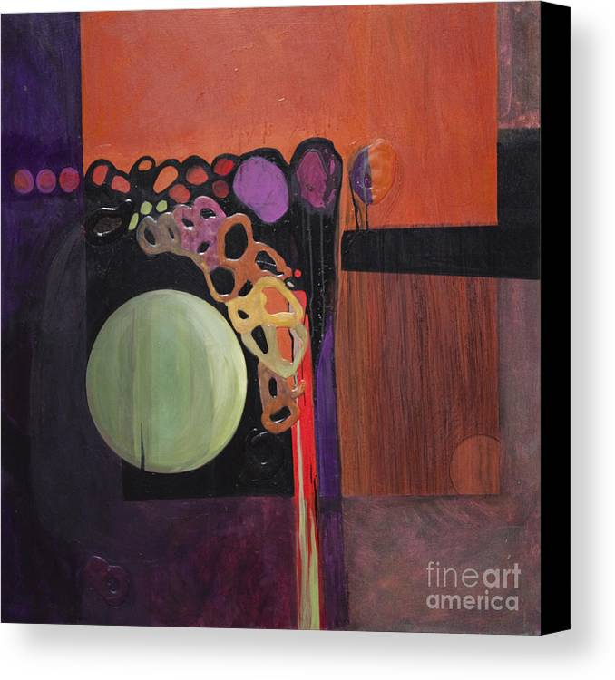 Abstract Canvas Print featuring the painting Globular by Marlene Burns