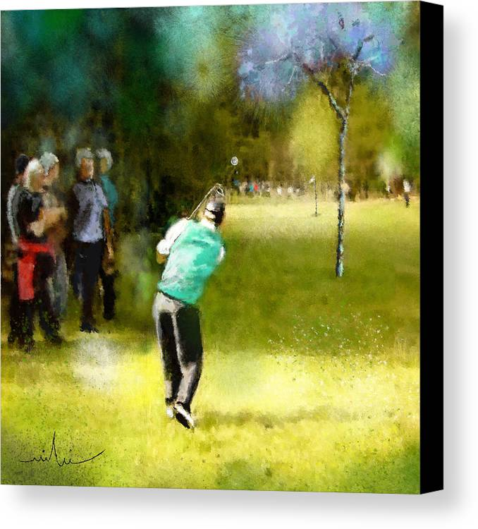 Golf Canvas Print featuring the painting Golf Vivendi Trophy In France 02 by Miki De Goodaboom