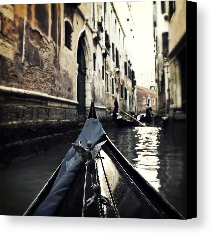 San Marco Canvas Print featuring the photograph gondola - Venice by Joana Kruse