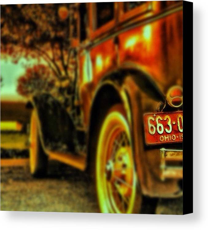 Popularpic Canvas Print featuring the photograph I Love This #classiccar Photo I Took In by Pete Michaud