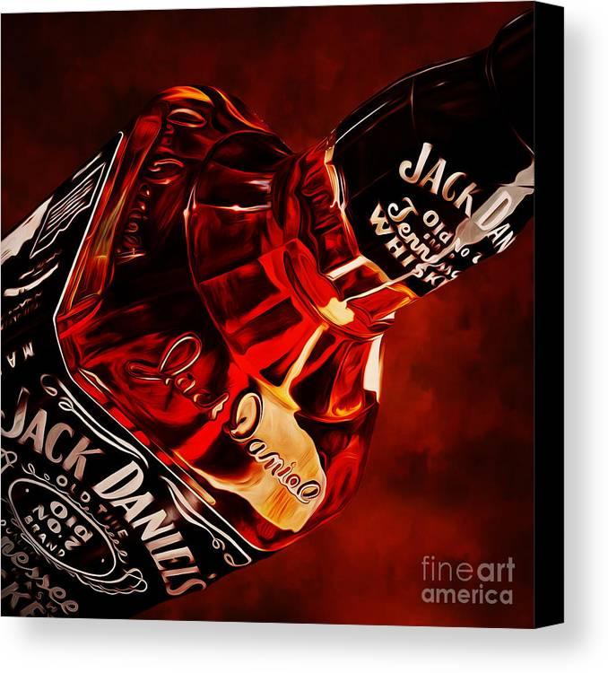 Jack Daniels Whisky Canvas Print / Canvas Art by Gull G