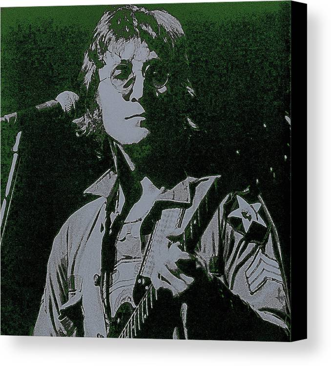 John Lennon Canvas Print featuring the photograph John Lennon by David Patterson