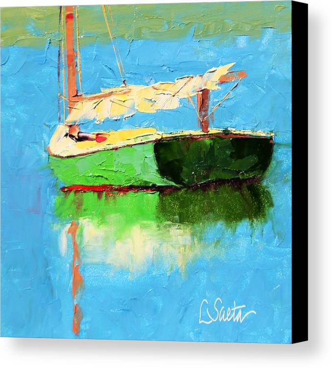Paintings Canvas Print featuring the painting Just Outside Of Dubrovnk by Leslie Saeta