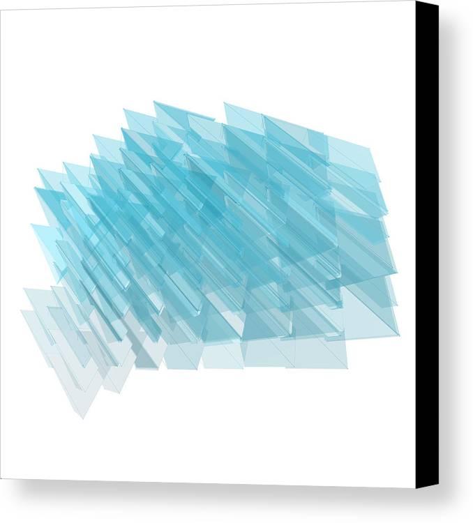 Procedural Canvas Print featuring the digital art l25A9KoTVKHaF4KTNklQRMmOnK33Lp3E by Joseph Pollack
