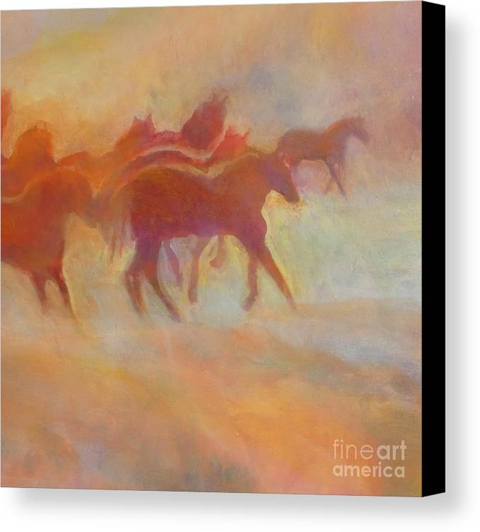 Horse Canvas Print featuring the painting Lookin To Race I by Kip Decker