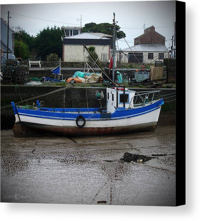 Boat Canvas Print featuring the photograph Low Tide by Tim Nyberg