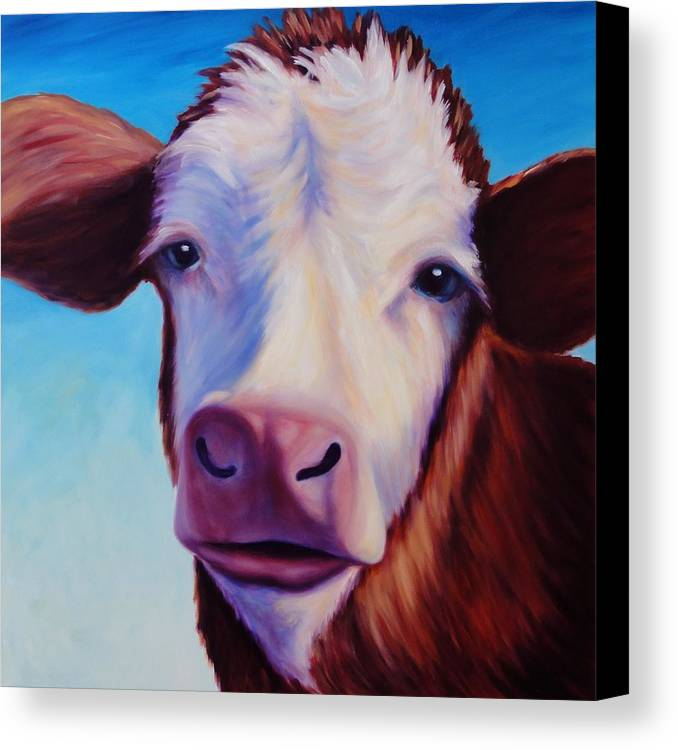 Cow Canvas Print featuring the painting Marie by Shannon Grissom