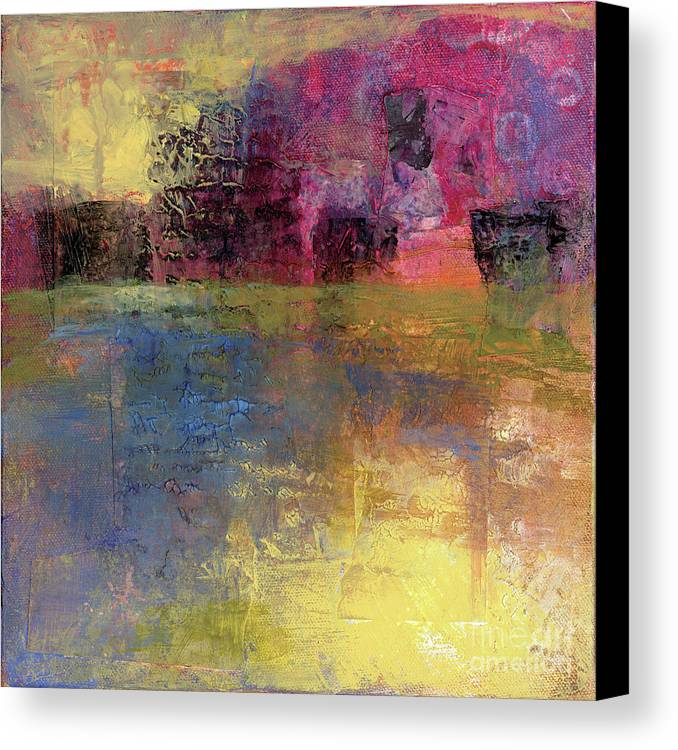 Abstract Canvas Print featuring the painting Meditation Place by Melody Cleary