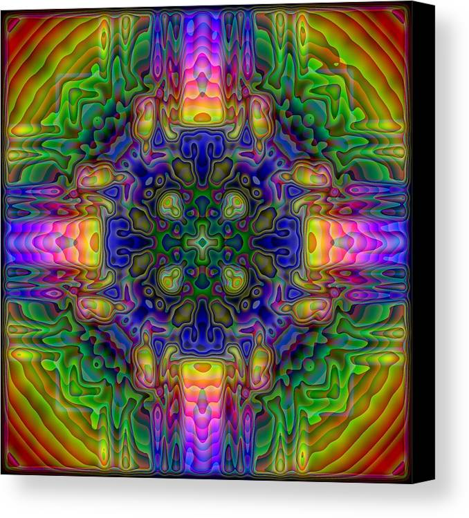 Kaleidoscope Canvas Print featuring the digital art Melted by Lyle Hatch