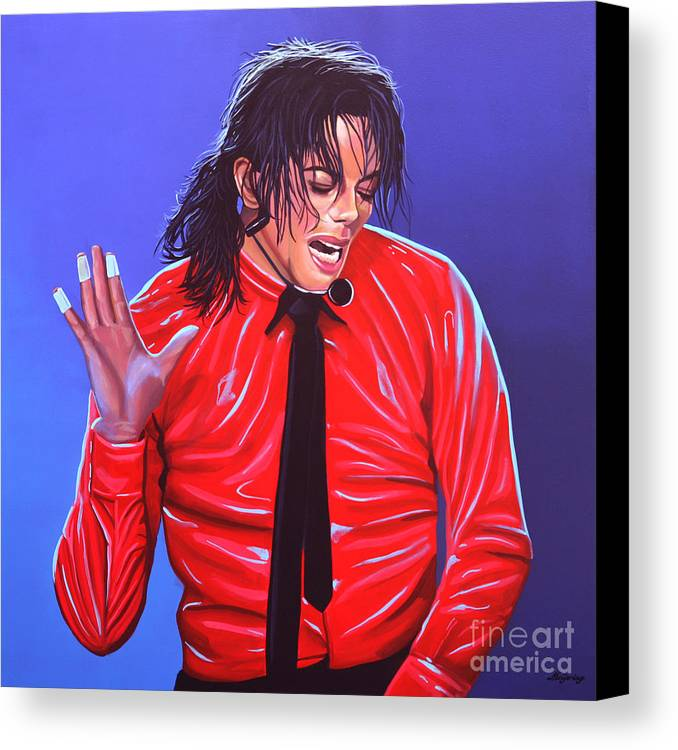 Michael Jackson Canvas Print featuring the painting Michael Jackson 2 by Paul Meijering