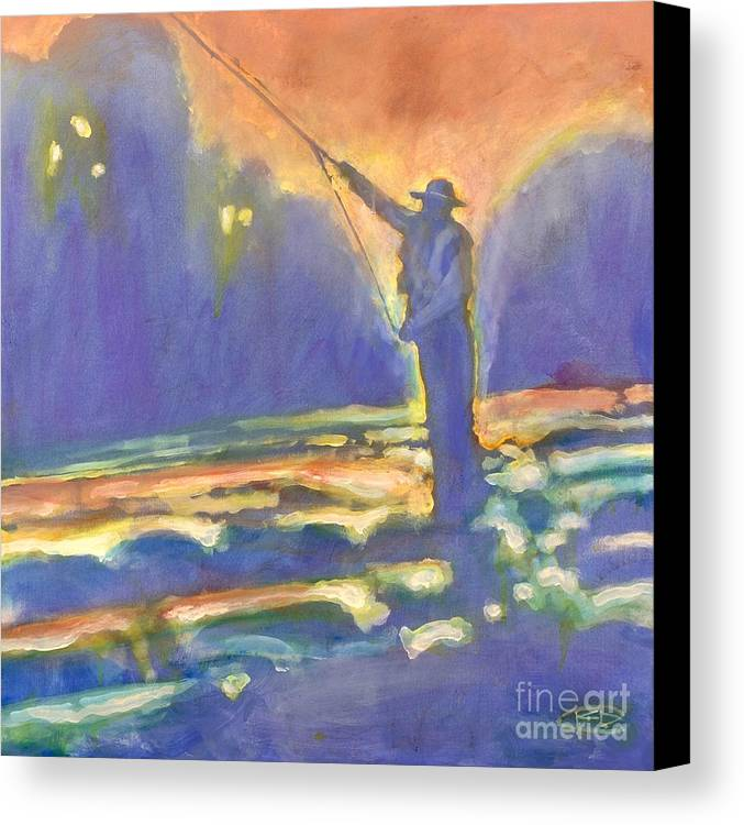 Fishing Canvas Print featuring the painting Miracle Moment by Kip Decker