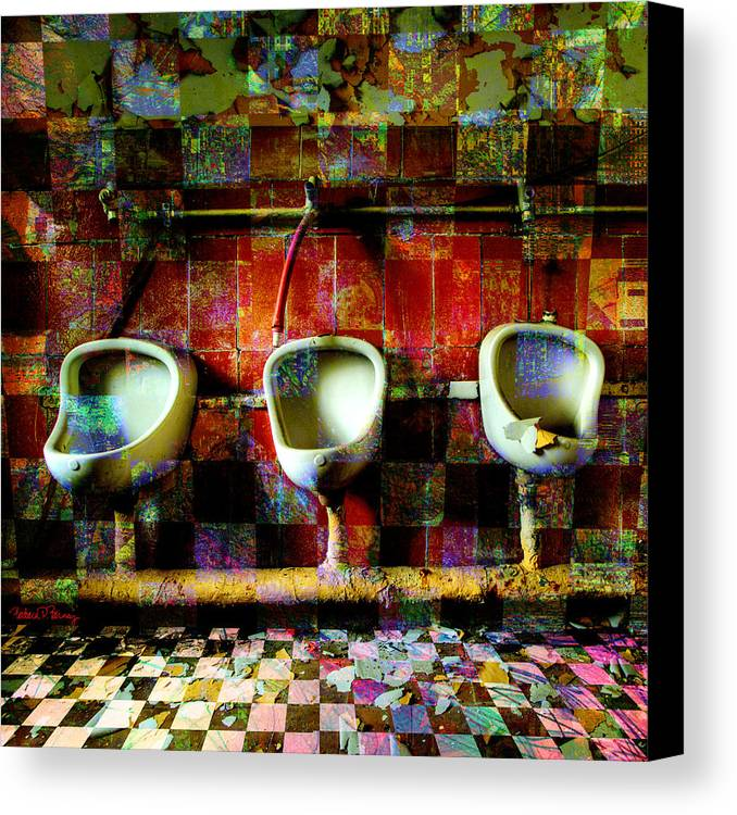 Marcel Duchamp Canvas Print featuring the digital art Move Over Marcel by Barbara Berney