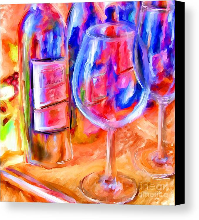 Wine Canvas Print featuring the mixed media North Carolina Wine by Marilyn Sholin