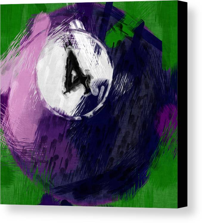 Four Canvas Print featuring the photograph Number Four Billiards Ball Abstract by David G Paul