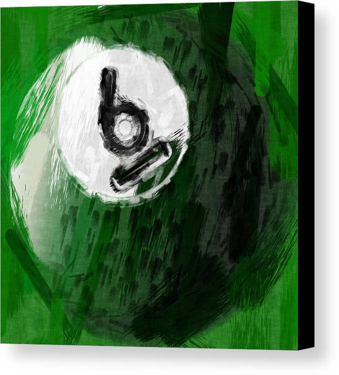 Six Canvas Print featuring the photograph Number Six Billiards Ball Abstract by David G Paul
