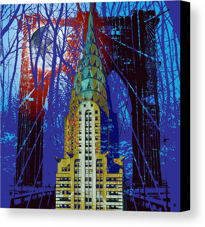 Modern Art Canvas Print featuring the digital art Nyc Icons by Gary Grayson