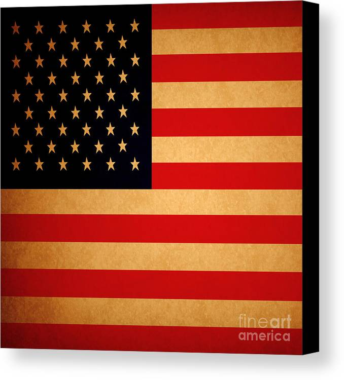 Usa Canvas Print featuring the photograph Old Glory . Square by Wingsdomain Art and Photography