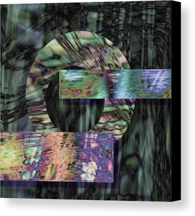 Metal Canvas Print featuring the digital art Oxidzed by Gae Helton