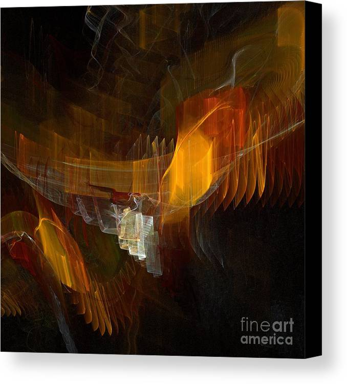 Square Canvas Print featuring the digital art Passenger by Flavio Coelho