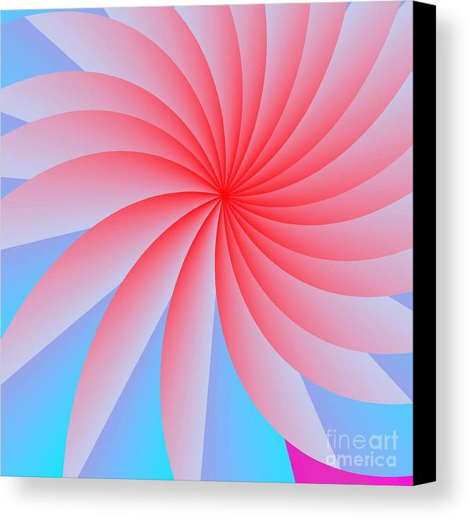 Abstract Canvas Print featuring the digital art Pink Passion Flower by Michael Skinner